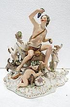 Large Charming German KPM Porcelain Group