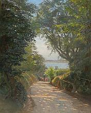 Olaf Viggo Peter Langer (German/Danish 1860-1943) Oil Painting on Canvas