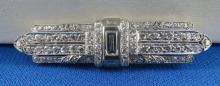 Art Deco Platinum & Diamond Brooch by Palais Royal - Paris