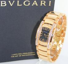 Bvlgari Assioma D 18Kt Rose Gold Diamond Ladies Wristwatch