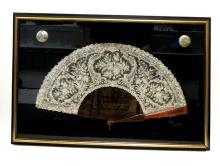 Antique Floral Lace Fan