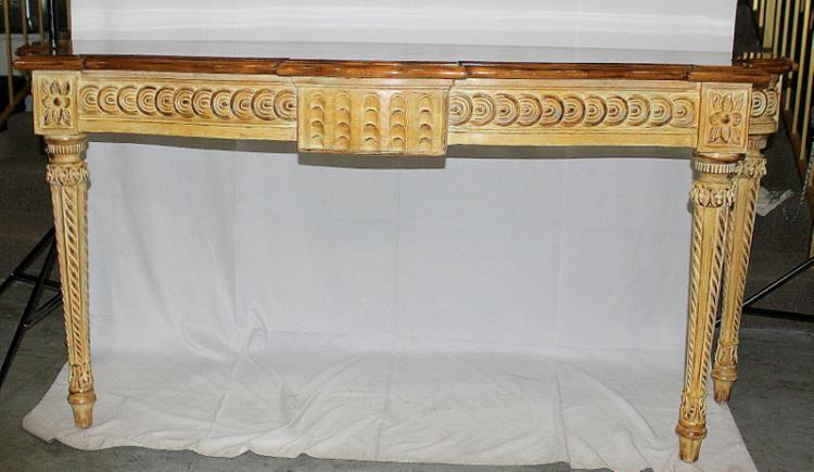 Carved ornate wooden console table - Ornate hall table ...