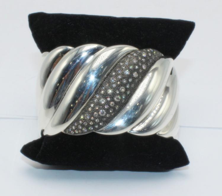 David Yurman Midnight Melange Ss Amp Diamond Cuff
