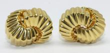1998 Yellow Gold Tiffany and Co. Earrings
