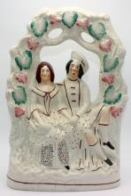 Staffoardshire Porcelain Two Figure Group