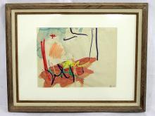 Taro Yamamoto (American, b.1919-1994) Watercolor Signed & Dated '63