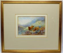Rare Harry Stinton (English, b.1882-1968) Watercolor