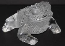 Lalique 'Gregoire' Frosted Crystal Frog