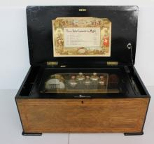 Swiss Cylinder Musical Box, Late 19th Century