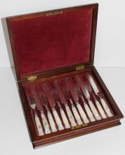 Set of 12 Mother of Pearl Forks & Knives