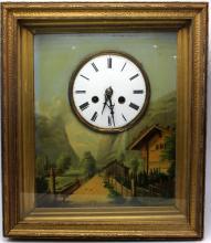 Antique Automaton Clock Painting