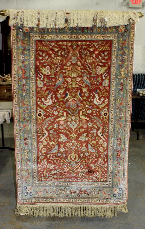 hereke silk hanging wall rug. Black Bedroom Furniture Sets. Home Design Ideas