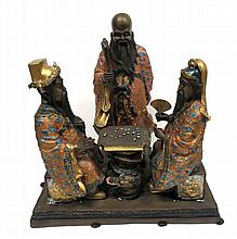 Chinese Bronze Figural Group