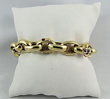 14Kt YG Open Link Bracelet