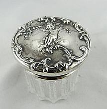 Sterling Silver & Crystal Pill Box