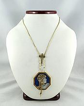 Beautiful 14Kt Erte Necklace