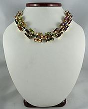 Fine Multi-Colored Gemstone Necklace