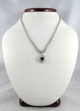 Platinum Women's Diamond Heart Necklace