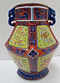 Chinese Family Rose Hand Painted Porcelain Figural Vases