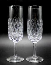 Set of 10 Waterford Champagne Flutes