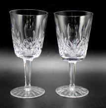 Set of 8 Waterford Crystal Lismore Claret Wine Glasses