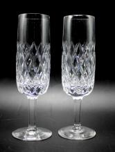 Set of 6 Waterford Champagne Flutes