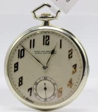 Patek Philippe made for Tiffany & Co. 18Kt WG C.1920 Ultra Thin Pocket Watch