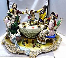 Capodimonte Porcelain Group of Figures