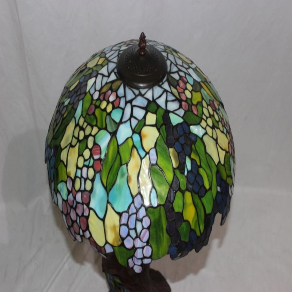 Tiffany Style Peacock Table Lamp