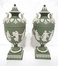 Pair of Wedgwood Jasperware Urns