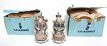 Lladro Porcelain Chinese Nobleman & Noblewoman