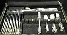 58 Pc. Towle Debussy Sterling Silver Flatware Set