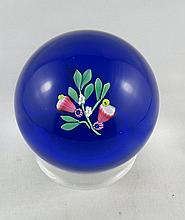 Signed Art Glass Crystal Paperweight