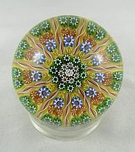 Perthshire Floral Design Art Glass Crystal Paperweight