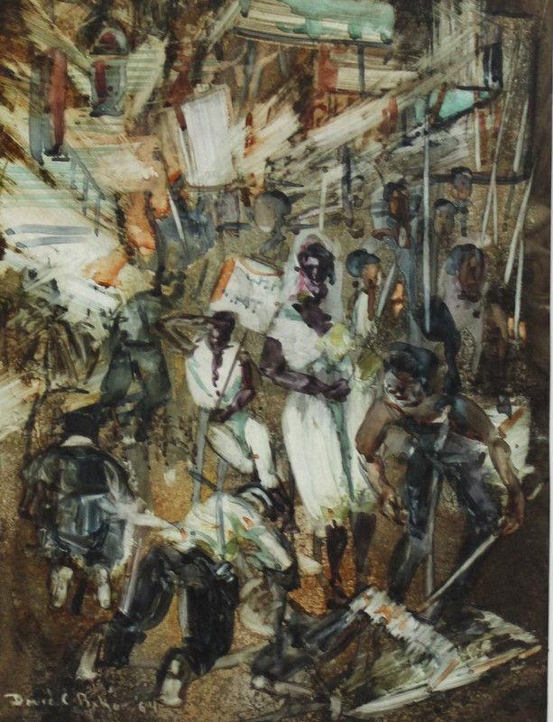 Original Watercolor Painting, David Baker (American)