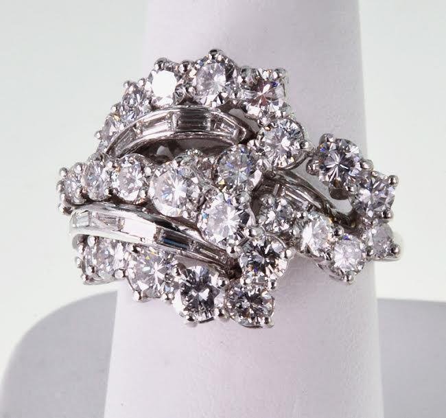 1950's Platinum & Diamond Ring