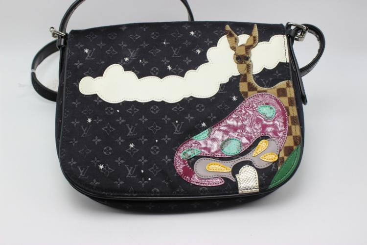 Louis Vuitton Monogram Patchwork Giraffe Saddle Bag