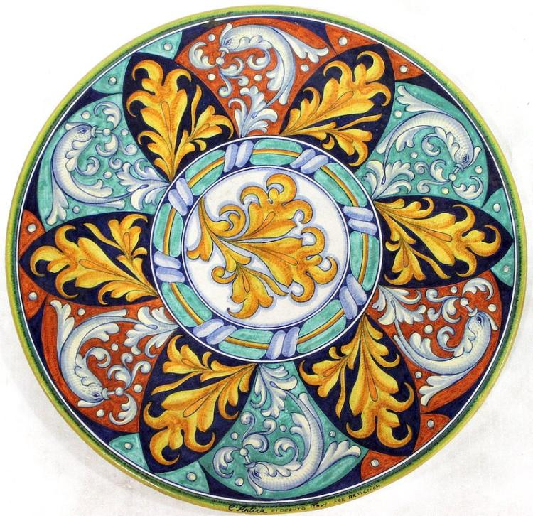 Artica Italian Hand Painted Ceramic Charger