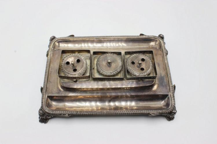 Antique European Sterling Inkwell