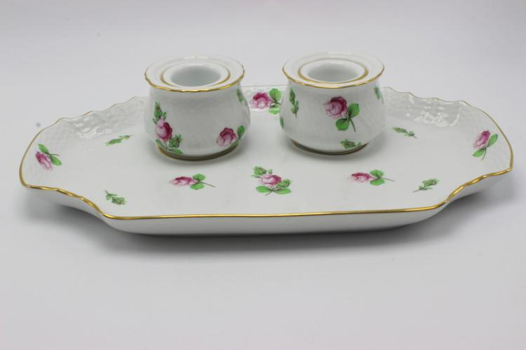 Herend Hand Painted Porcelain Inkwell