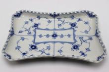 Royal Copenhagen Blue & White Laced Porcelain Serving Dish