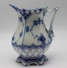Royal Copenhagen Blue & White Laced Porcelain Creamer