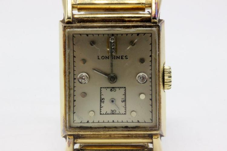 Vintage Longines 14Kt YG & Stainless Steel Men's Watch