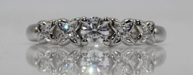 Dior Platinum Diamond Ring