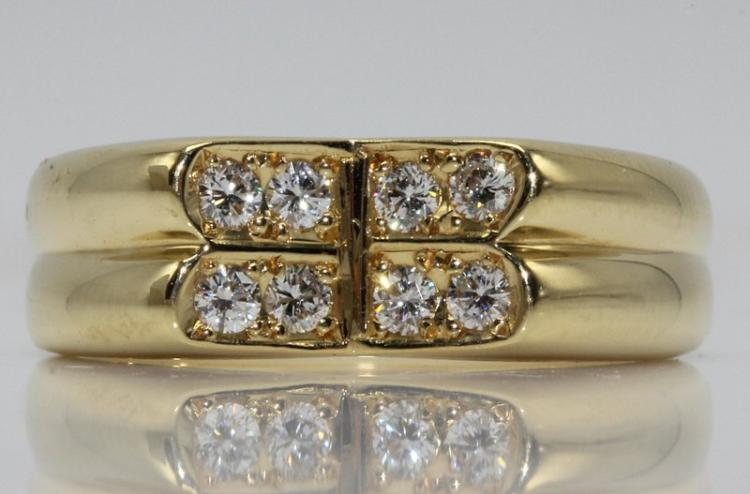 Christian Dior 18Kt YG Diamond Ring