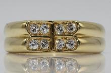 Christian Dior 18Kt YG Diamond Ring
