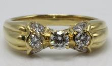 Dior 18Kt YG 0.55ct. Diamond Ring