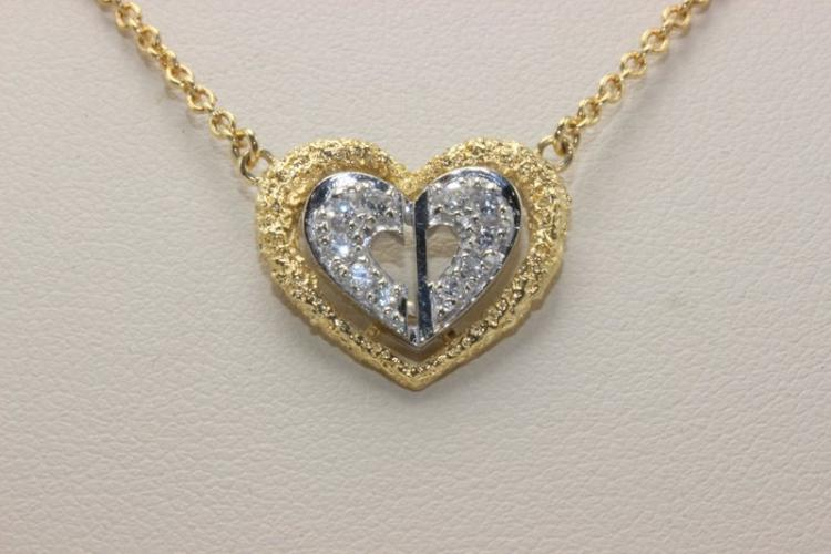 Christian Dior 18Kt YG 0.10ct. Diamond Necklace