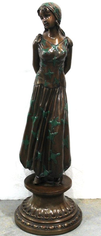 Pescara Polychrome Bronze Girl