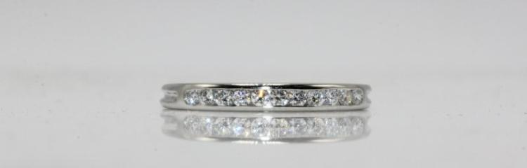 Tiffany & Co. Platinum 0.11ct. Diamond Ring
